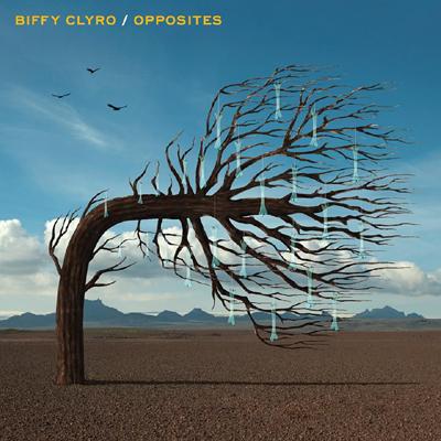 Capa de Opposites, sexto disco de estúdio dos escoceses do Biffy Clyro