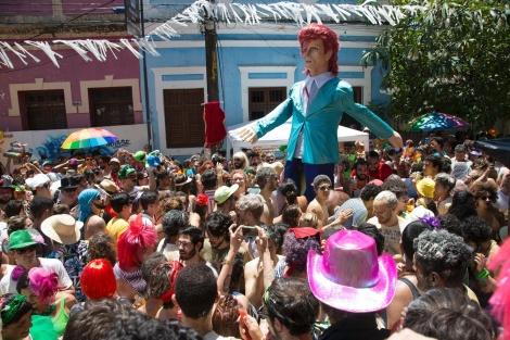 Bloco Bumba Meu Bowie arrasta foliões em Olinda/PE (Foto: Divulgação)