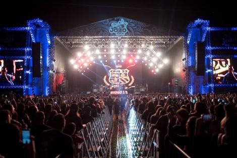 Show do CPM 22 na edição de 15 anos do festival (Foto: Divulgação)