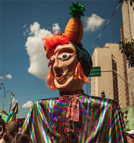 Tô de Bowie surgiu em 2014 no Carnaval de rua da capital paulista (Foto: Helena Yoshioka)